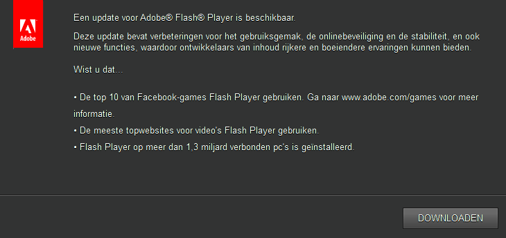 Adobe Flashplayer updaten
