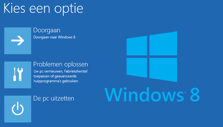 Veilige modus Windows 8