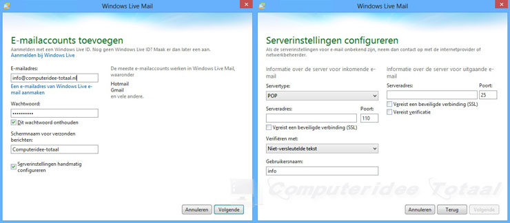 Windows Live Mail downloaden en instellen